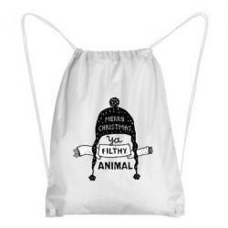 Рюкзак-мішок Merry christmas filthy ya animal