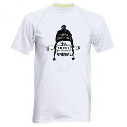 Чоловіча спортивна футболка Merry christmas filthy ya animal