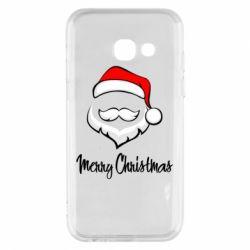 Купить НОВЫЙ ГОД, Чехол для Samsung A3 2017 Merry Christmas, FatLine