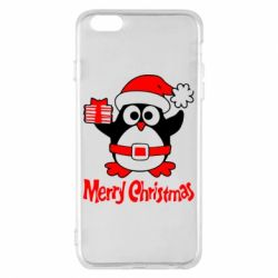 Чехол для iPhone 6 Plus/6S Plus Merry Cristmas Пингвин