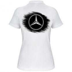 Женская футболка поло Мерседес арт, Mercedes art