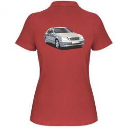 Женская футболка поло Мерседес - FatLine