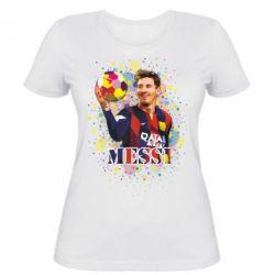 Женская футболка Месси Art