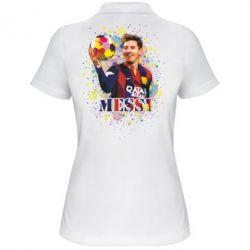 Женская футболка поло Месси Art