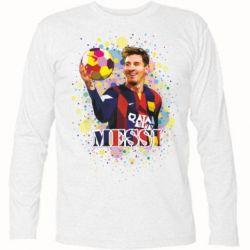 Футболка с длинным рукавом Месси Art