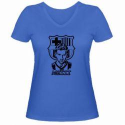 Женская футболка с V-образным вырезом Messi