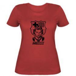 Женская футболка Messi