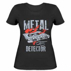 Жіноча футболка Metal detector