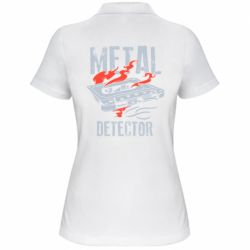 Жіноча футболка поло Metal detector
