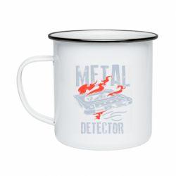 Кружка емальована Metal detector