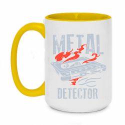 Кружка двоколірна 420ml Metal detector