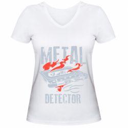 Жіноча футболка з V-подібним вирізом Metal detector