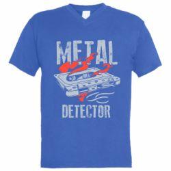 Чоловіча футболка з V-подібним вирізом Metal detector