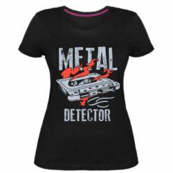 Жіноча стрейчева футболка Metal detector