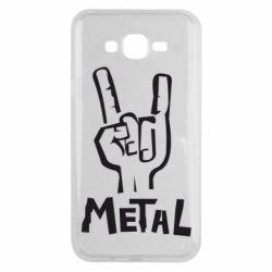 Чехол для Samsung J7 2015 Metal - FatLine