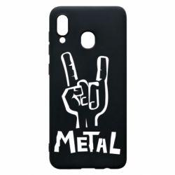 Чехол для Samsung A20 Metal