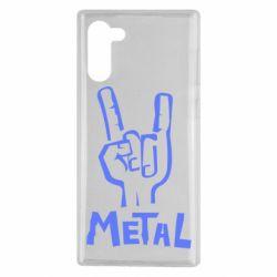 Чехол для Samsung Note 10 Metal