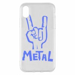 Чехол для iPhone X Metal - FatLine