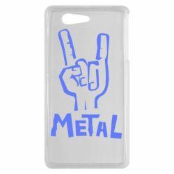 Чехол для Sony Xperia Z3 mini Metal - FatLine