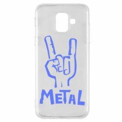 Чехол для Samsung A6 2018 Metal - FatLine