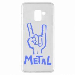 Чехол для Samsung A8+ 2018 Metal - FatLine