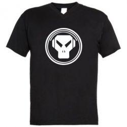 Мужская футболка  с V-образным вырезом metalheadz - FatLine