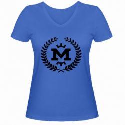 Жіноча футболка з V-подібним вирізом Metalist spikelets