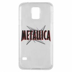 Чохол для Samsung S5 Логотип Metallica