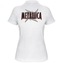 Женская футболка поло Metallica Logo - FatLine