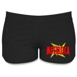 Женские шорты Metallica Logo - FatLine