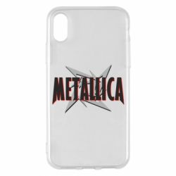 Чехол для iPhone X/Xs Metallica Logo