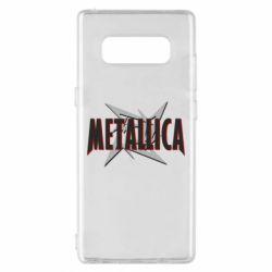 Чохол для Samsung Note 8 Логотип Metallica