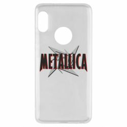 Чехол для Xiaomi Redmi Note 5 Metallica Logo - FatLine