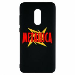 Чехол для Xiaomi Redmi Note 4 Metallica Logo - FatLine