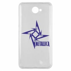Чехол для Huawei Y7 2017 Metallica Logotype - FatLine