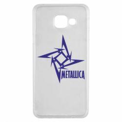 Чехол для Samsung A3 2016 Metallica Logotype - FatLine