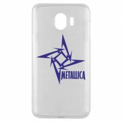 Чехол для Samsung J4 Metallica Logotype - FatLine