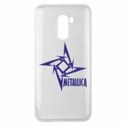 Чехол для Xiaomi Pocophone F1 Metallica Logotype - FatLine