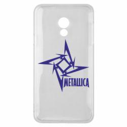 Чехол для Meizu 15 Lite Metallica Logotype - FatLine