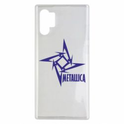 Чехол для Samsung Note 10 Plus Metallica Logotype