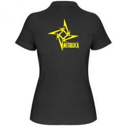 Женская футболка поло Metallica Logotype - FatLine