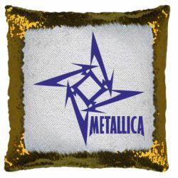 Подушка-хамелеон Логотип Metallica