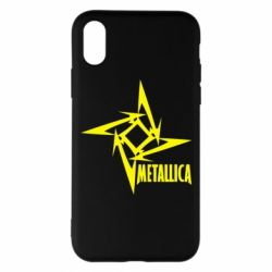 Чехол для iPhone X Metallica Logotype - FatLine
