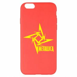 Чехол для iPhone 6 Plus/6S Plus Metallica Logotype - FatLine