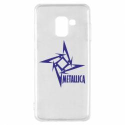 Чехол для Samsung A8 2018 Metallica Logotype - FatLine