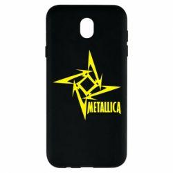 Чехол для Samsung J7 2017 Metallica Logotype - FatLine