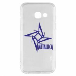 Чехол для Samsung A3 2017 Metallica Logotype - FatLine
