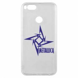 Чехол для Xiaomi Mi A1 Metallica Logotype - FatLine