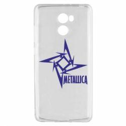 Чехол для Xiaomi Redmi 4 Metallica Logotype - FatLine