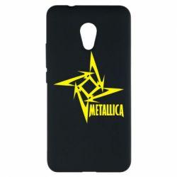 Чехол для Meizu M5s Metallica Logotype - FatLine